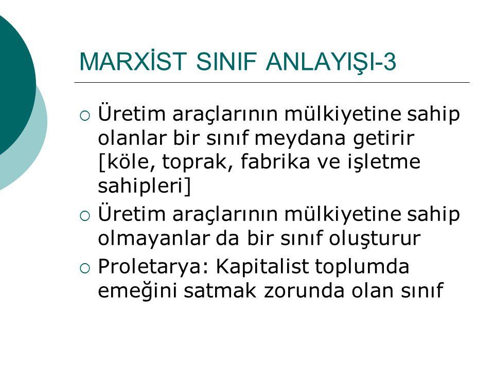 MARXİST SINIF ANLAYIŞI-3