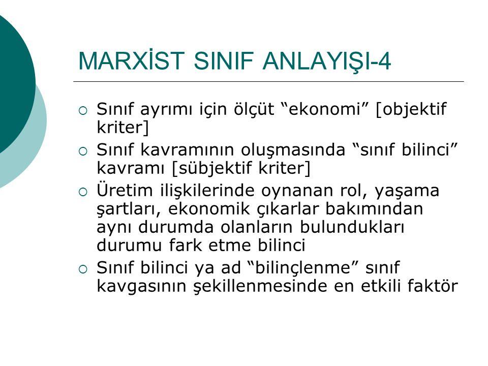 MARXİST SINIF ANLAYIŞI-4
