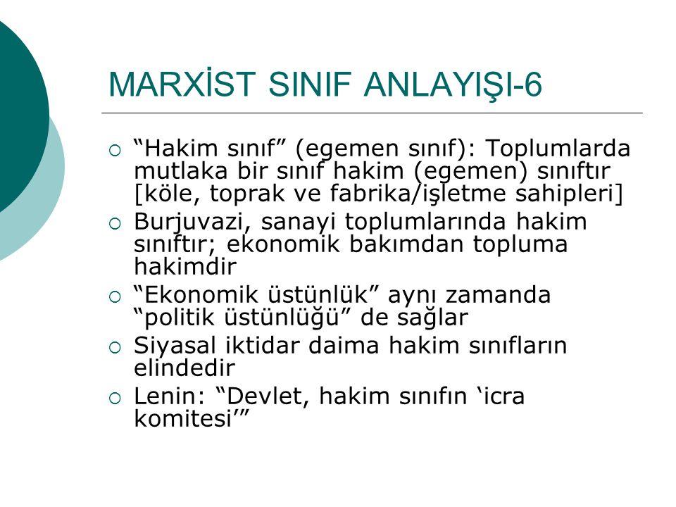 MARXİST SINIF ANLAYIŞI-6