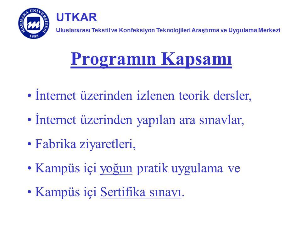 Programın Kapsamı İnternet üzerinden izlenen teorik dersler,