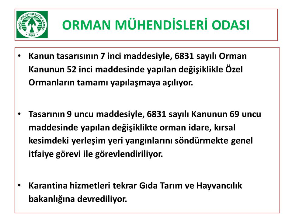 ORMAN MÜHENDİSLERİ ODASI