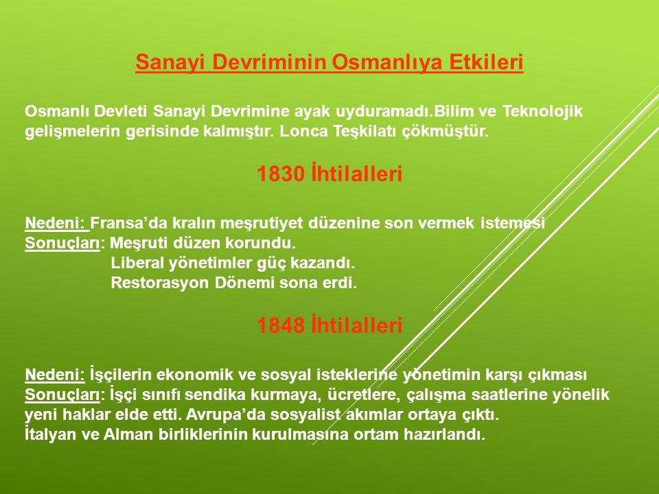 Sanayi Devriminin Osmanlıya Etkileri