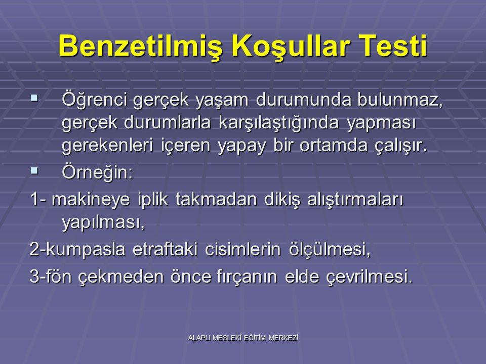 Benzetilmiş Koşullar Testi