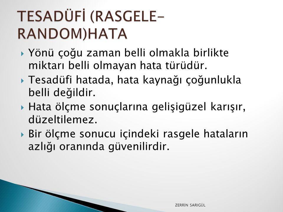 TESADÜFİ (RASGELE-RANDOM)HATA