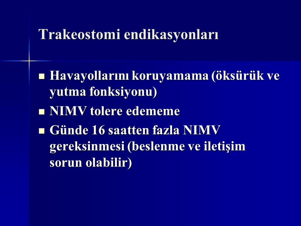 Trakeostomi endikasyonları