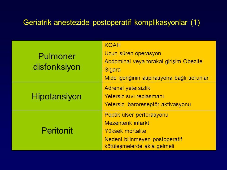 Geriatrik anestezide postoperatif komplikasyonlar (1)