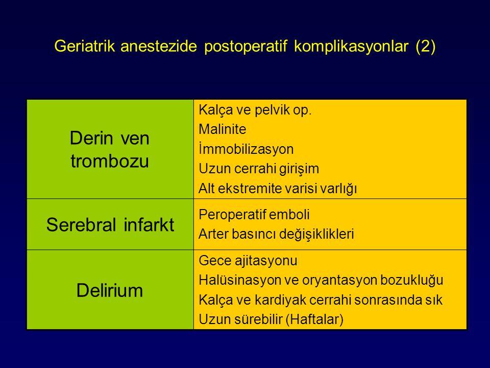 Geriatrik anestezide postoperatif komplikasyonlar (2)