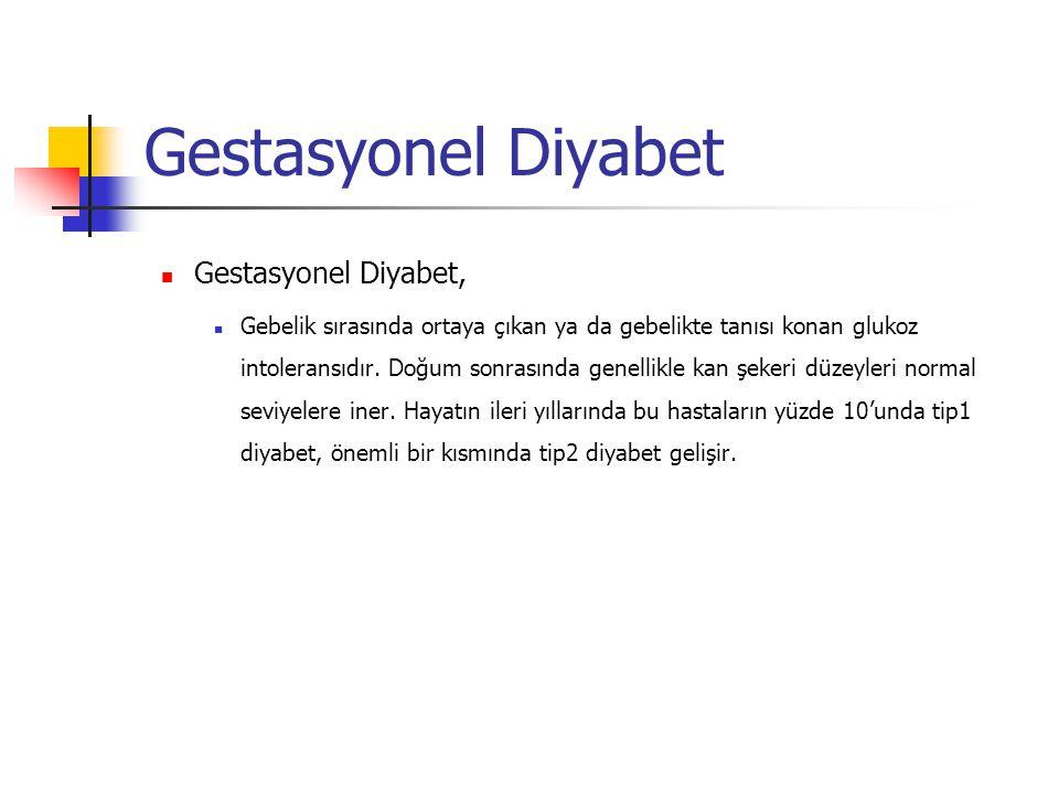 Gestasyonel Diyabet Gestasyonel Diyabet,
