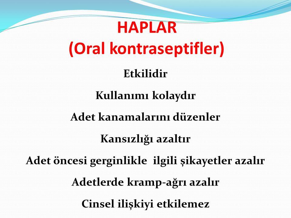 HAPLAR (Oral kontraseptifler)