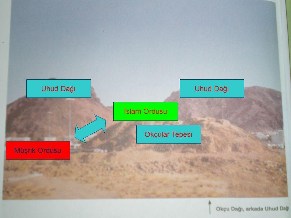 Uhud Dağı Uhud Dağı İslam Ordusu Okçular Tepesi Müşrik Ordusu