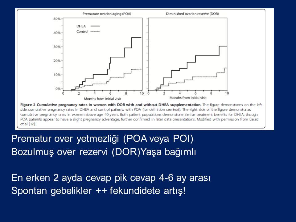 Prematur over yetmezliği (POA veya POI)