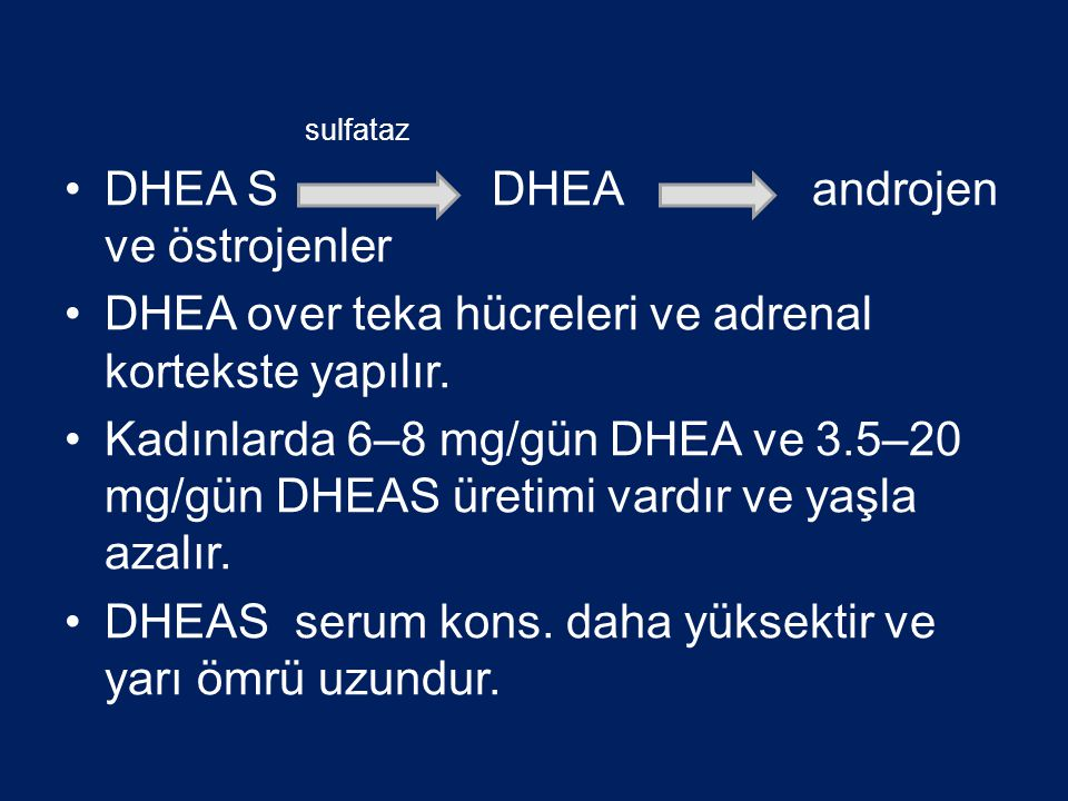 DHEA S DHEA androjen ve östrojenler