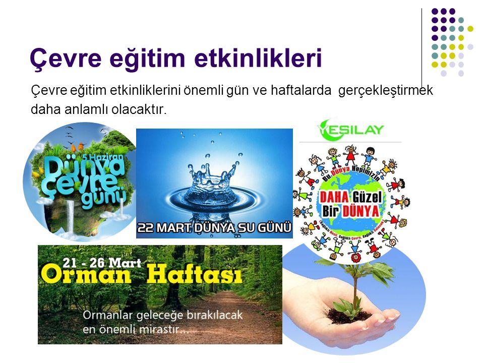 Çevre eğitim etkinlikleri