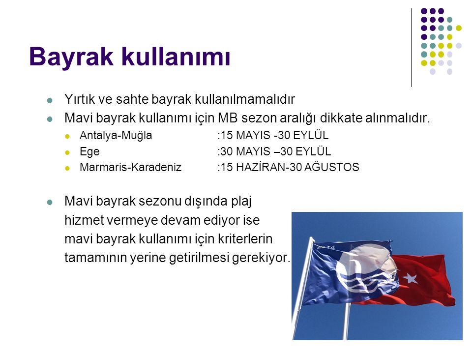 Bayrak kullanımı Yırtık ve sahte bayrak kullanılmamalıdır