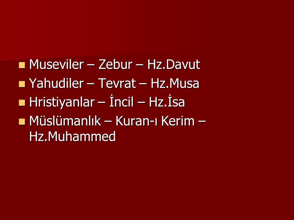 Museviler – Zebur – Hz.Davut