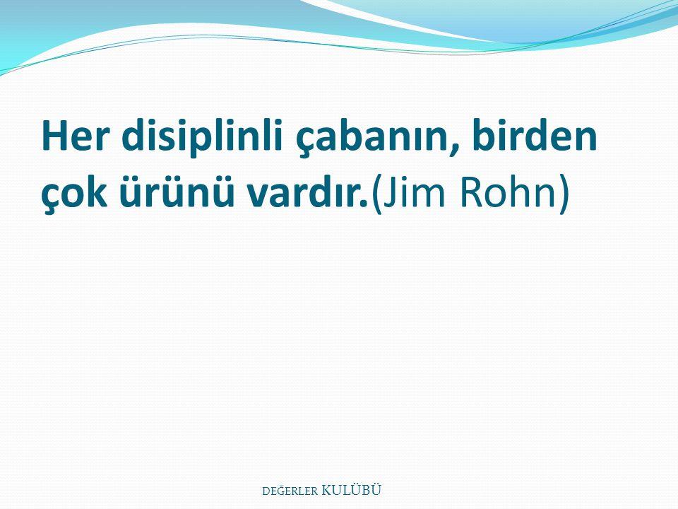 Her disiplinli çabanın, birden çok ürünü vardır.(Jim Rohn)