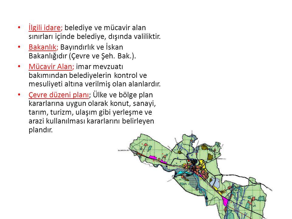 İlgili idare; belediye ve mücavir alan sınırları içinde belediye, dışında valiliktir.