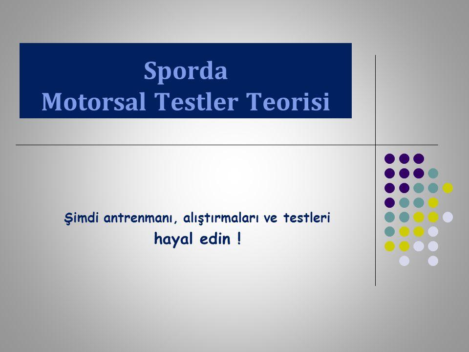 Sporda Motorsal Testler Teorisi