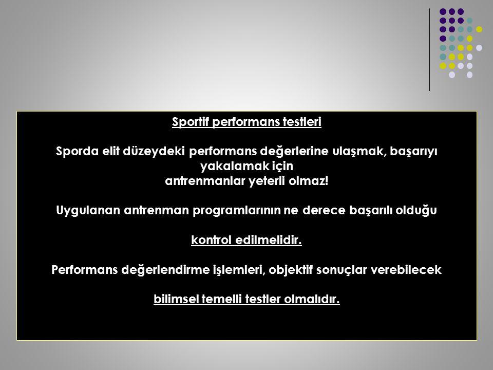 Sportif performans testleri