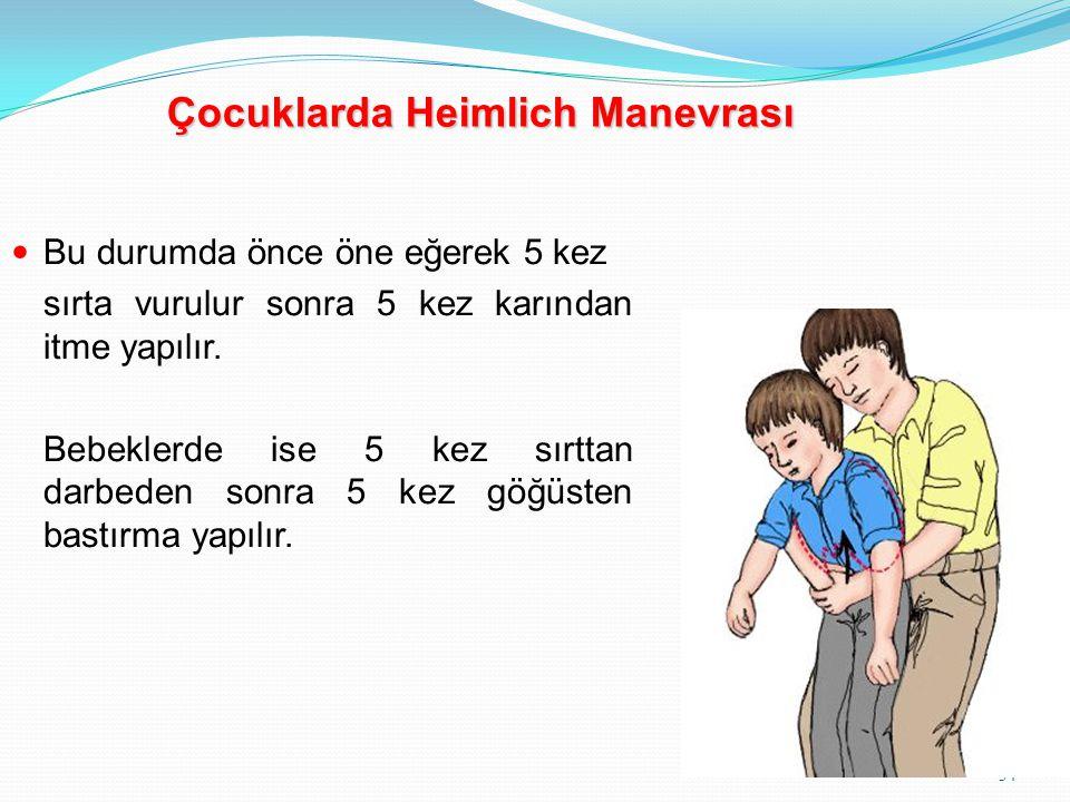 Çocuklarda Heimlich Manevrası