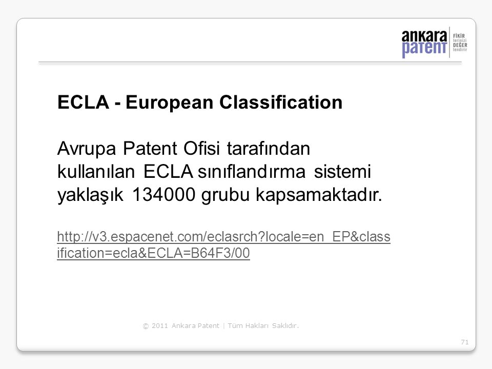 ECLA - European Classification