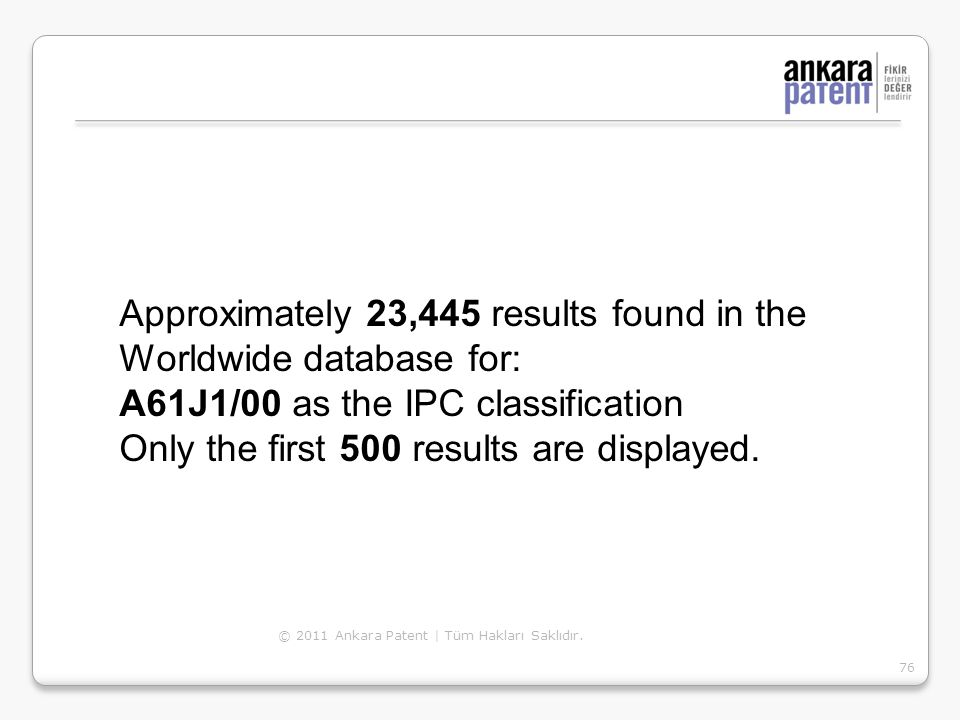 Approximately 23,445 results found in the Worldwide database for: