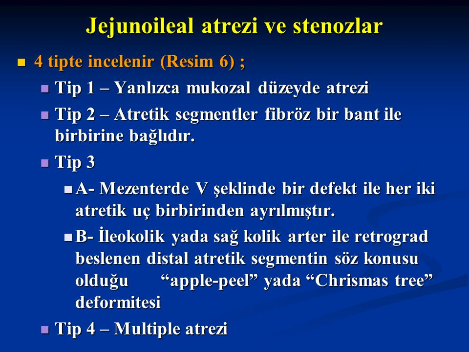 Jejunoileal atrezi ve stenozlar