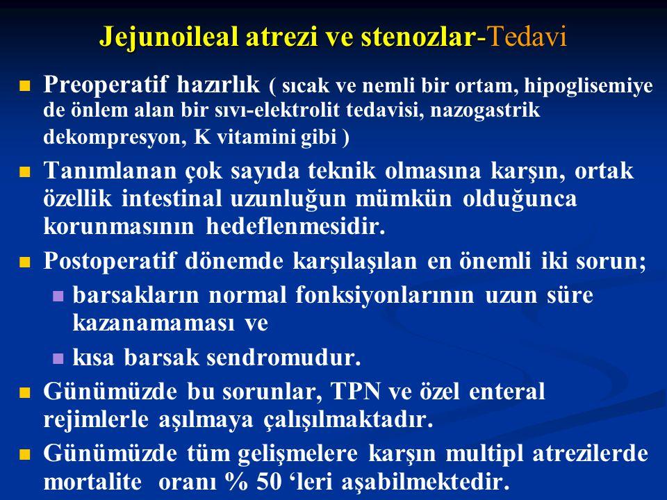 Jejunoileal atrezi ve stenozlar-Tedavi