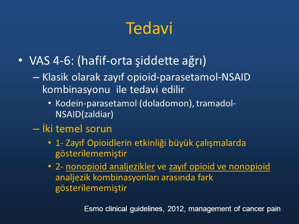Tedavi VAS 4-6: (hafif-orta şiddette ağrı)