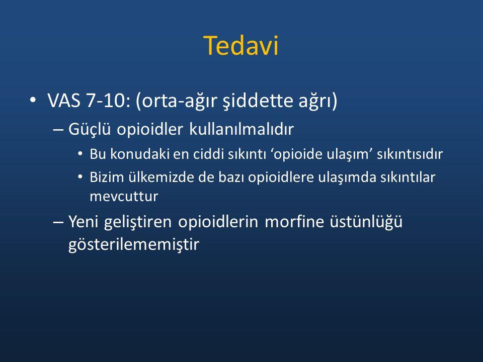 Tedavi VAS 7-10: (orta-ağır şiddette ağrı)
