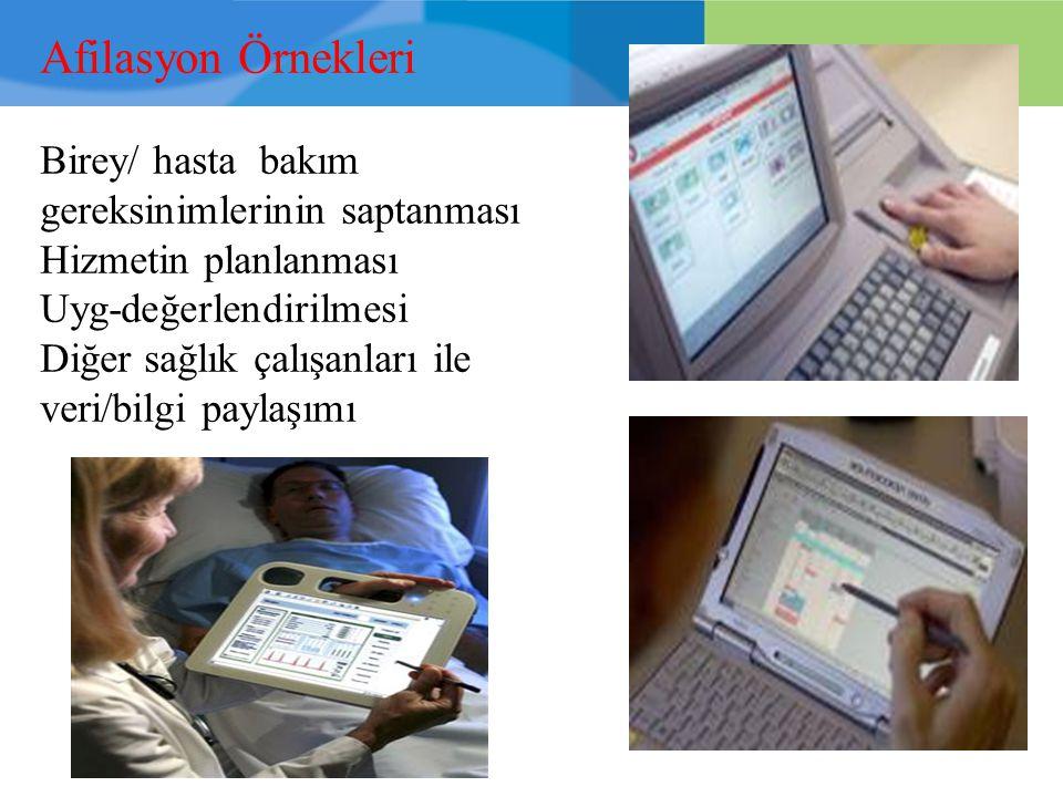 Afilasyon Örnekleri Birey/ hasta bakım gereksinimlerinin saptanması