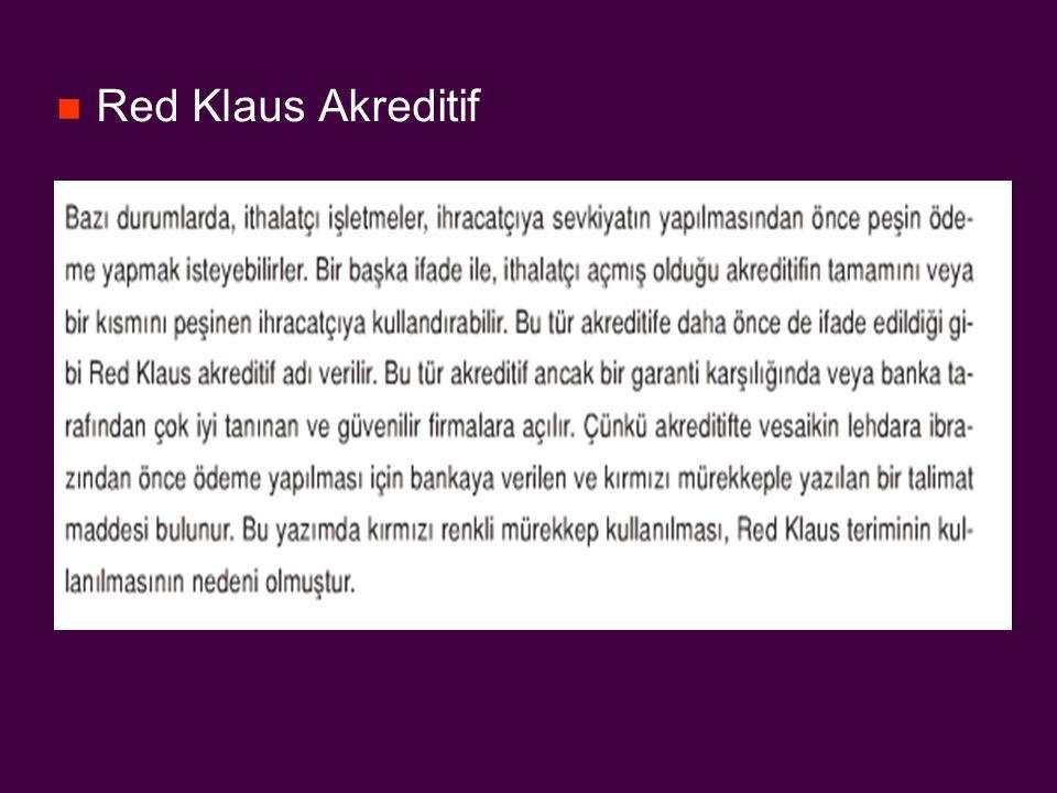 Red Klaus Akreditif