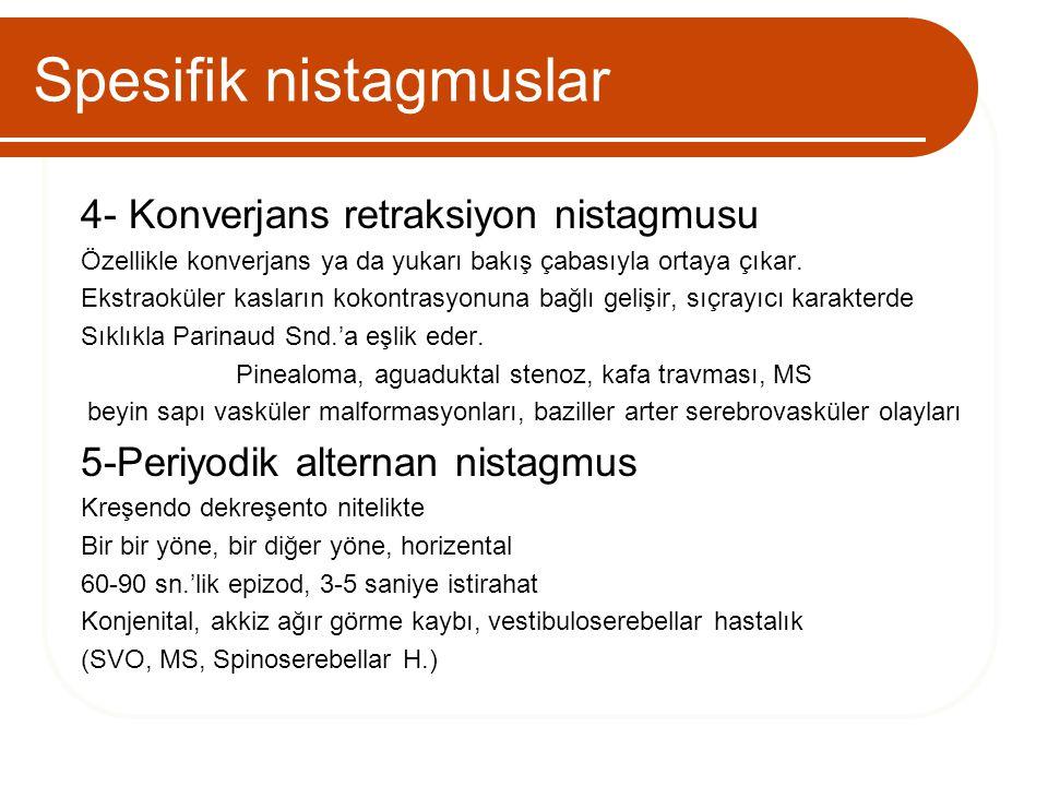 Spesifik nistagmuslar