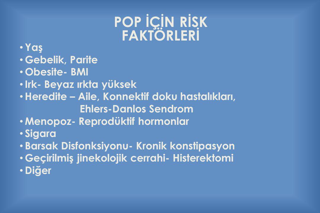 POP İÇİN RİSK FAKTÖRLERİ