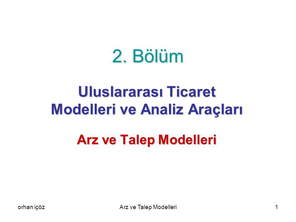 Uluslararası Ticaret Modelleri ve Analiz Araçları