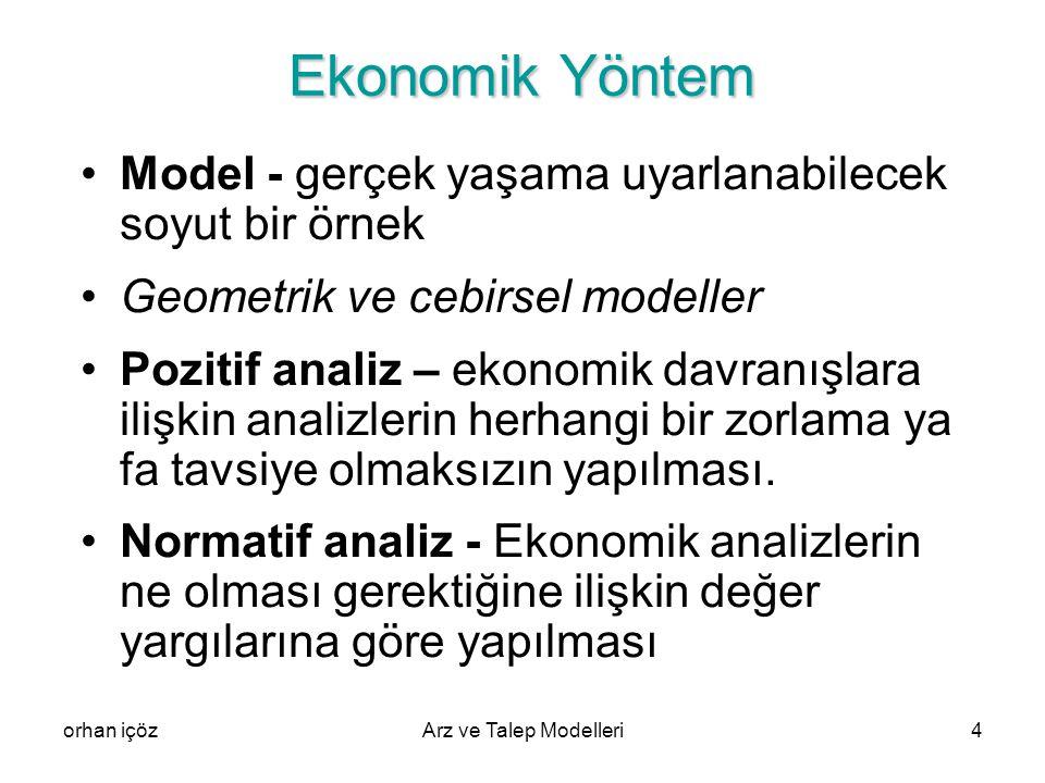 Ekonomik Yöntem Model - gerçek yaşama uyarlanabilecek soyut bir örnek