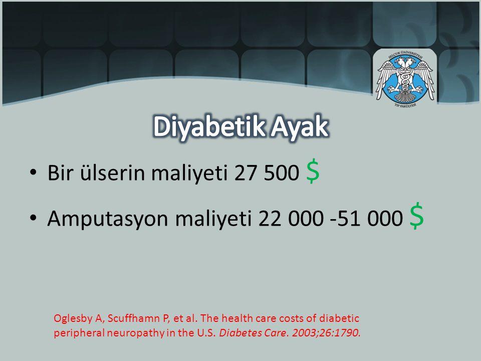 Diyabetik Ayak Bir ülserin maliyeti 27 500 $
