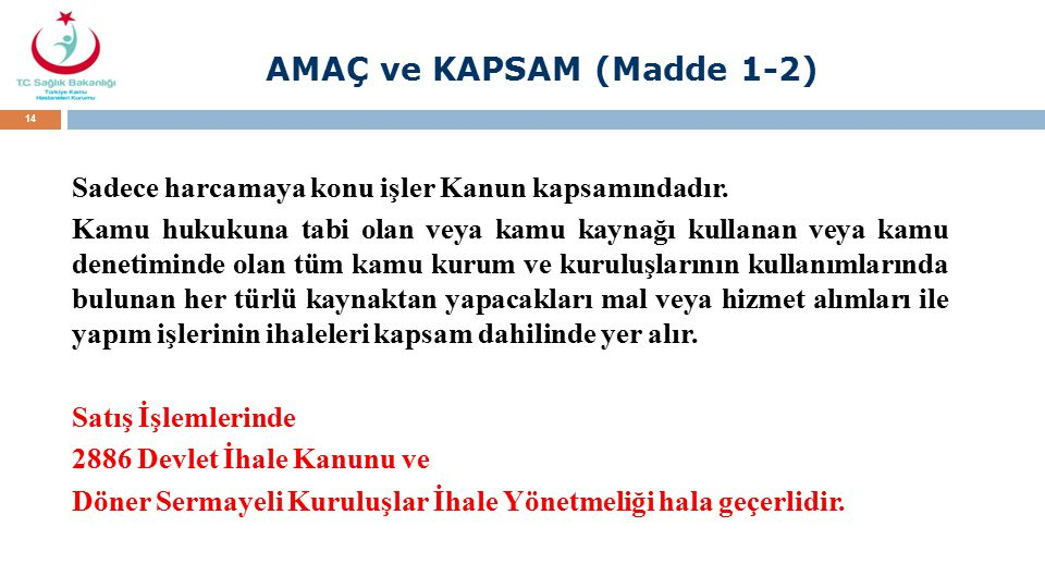 AMAÇ ve KAPSAM (Madde 1-2)