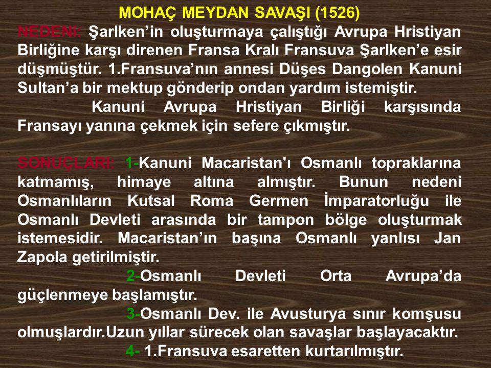 MOHAÇ MEYDAN SAVAŞI (1526)