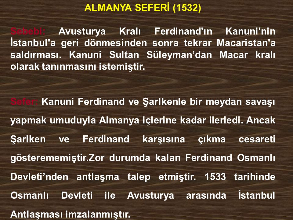 ALMANYA SEFERİ (1532)