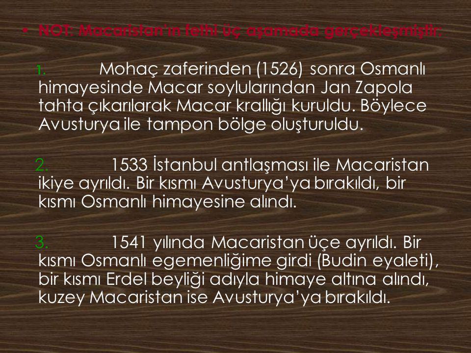 NOT: Macaristan'ın fethi üç aşamada gerçekleşmiştir: