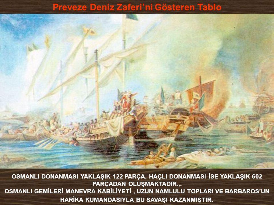 Preveze Deniz Zaferi'ni Gösteren Tablo