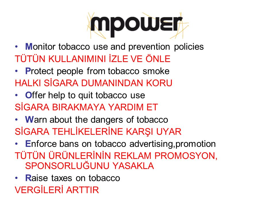 Monitor tobacco use and prevention policies