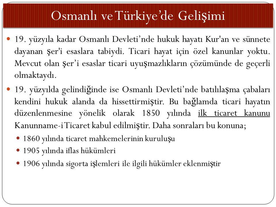 Osmanlı ve Türkiye'de Gelişimi