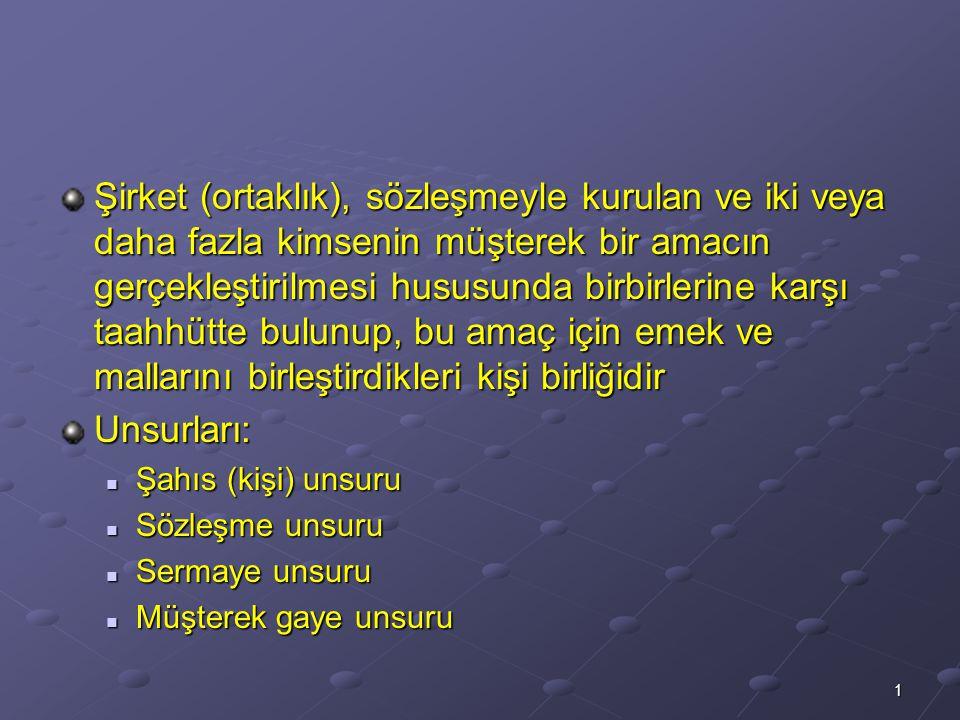 TİCARET HUKUKU 10. HAFTA