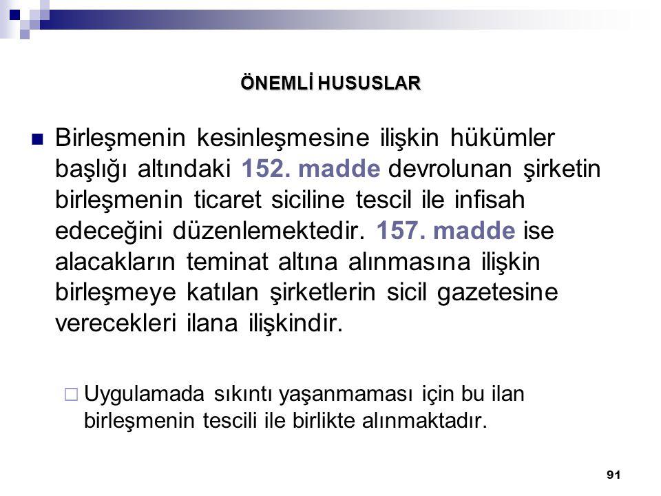 ÖNEMLİ HUSUSLAR