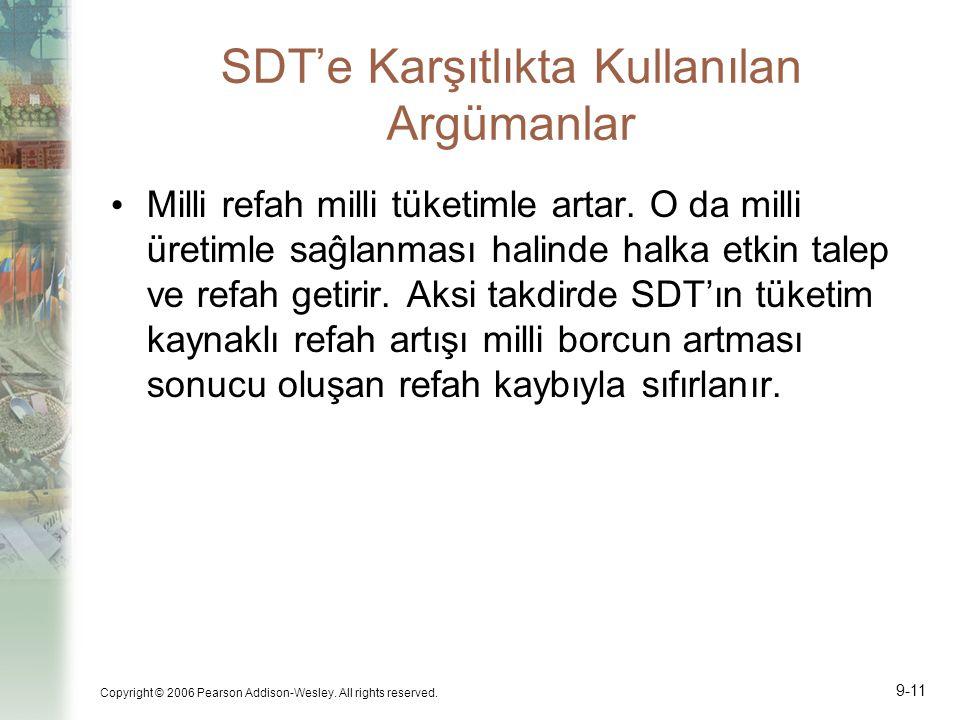 SDT'e Karşıtlıkta Kullanılan Argümanlar