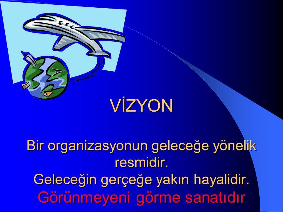 VİZYON Bir organizasyonun geleceğe yönelik resmidir