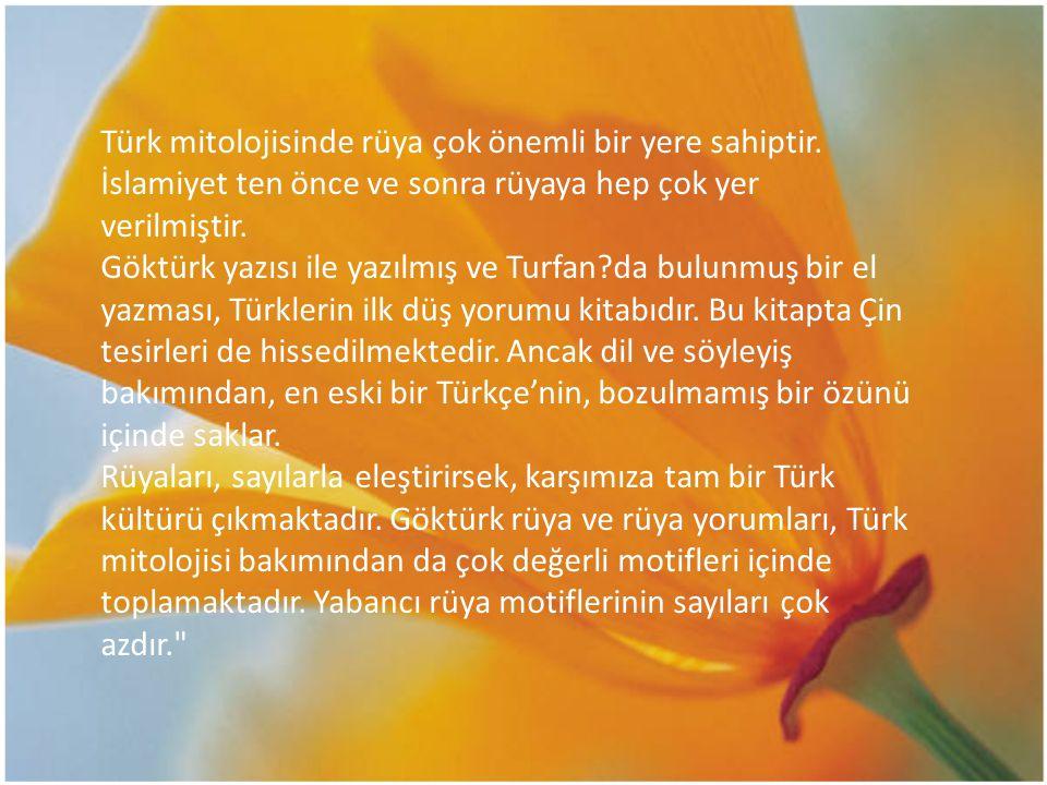 Türk mitolojisinde rüya çok önemli bir yere sahiptir