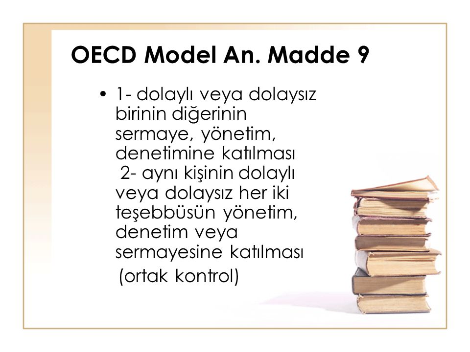 OECD Model An. Madde 9